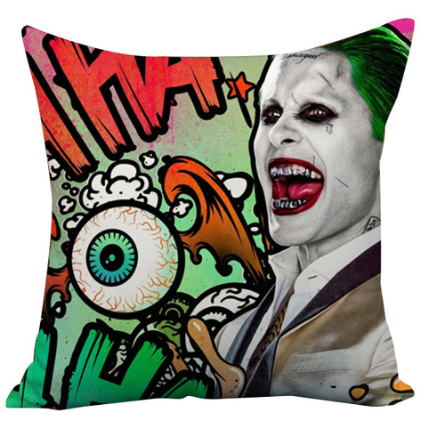 Suicide Squad Margot Robbie Harley Quinn And Joker Cushion Case Throw Pillow Cover-16