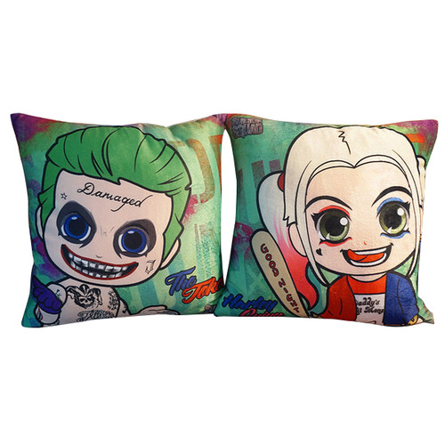 Suicide Squad Margot Robbie Harley Quinn And Joker Cushion Case Throw Pillow Cover-17