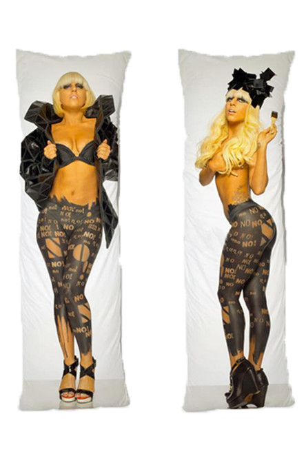 Lady Gaga One or Two Side Personalized Rectangular Body Pillows from Real Person Picture It On Canvas with Zipper