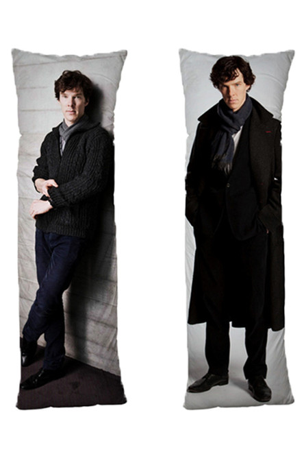 Benedict Cumberbatch One or Two Side Personalized Rectangular Body Pillows from Real Person Picture It On Canvas with Zipper