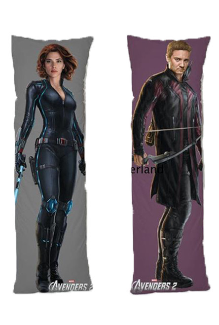 Avengers One or Two Side Personalized Rectangular Body Pillows from Real Person Picture It On Canvas with Zipper