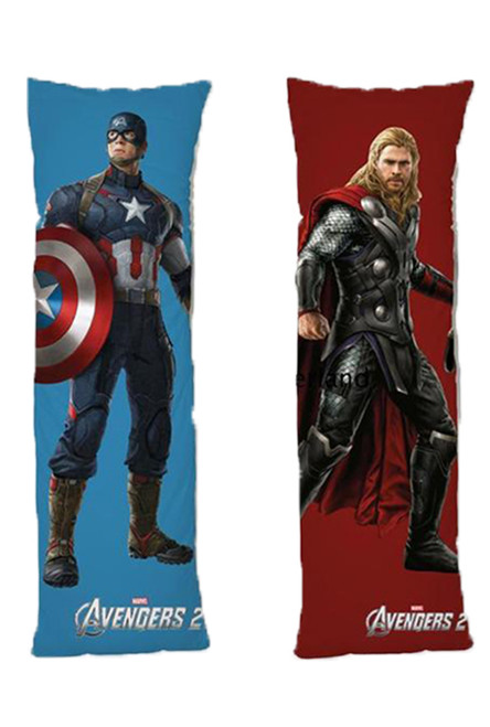 Avengers One or Two Side Personalized Rectangular Body Pillows from Real Person Picture It On Canvas with Zipper-1