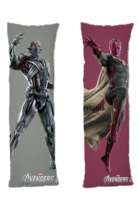 Avengers One or Two Side Personalized Rectangular Body Pillows from Real Person Picture It On Canvas with Zipper-2