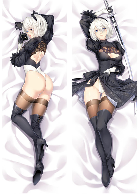 Nier: Automata 2B Anime Dakimakura Hugging Body Pillow Cover-2