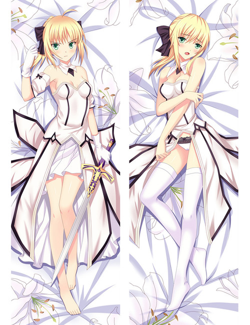 2017 New Anime Fate Stay Night Saber Lily Dakimakura Cover Hugging Body Pillow Case