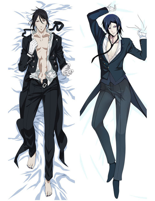 2017 New Anime Dakimakura Black Butler Sebastian Body Pillow Case
