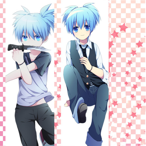 Assassination Classroom Nagisa Shiota Anime Dakimakura Pillow Case Hugging Body