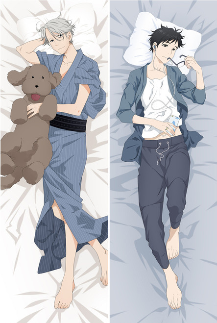 Anime YURI!!! on ICE Katsuki Victor BL Dakimakura Hugging Body Pillow Case