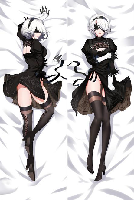 Game NieR:Automata YoRHa 2B Dakimakura Bed Hug Body Pillow Case Cover