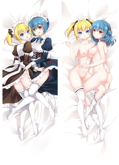 R18 Anime Battle Girl High School Shiho Kunieda&Kanon Kougami Dakimakura Hugging Body Pillow Case