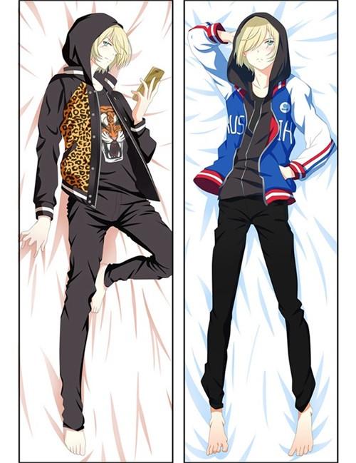 Hot Anime Yuri on Ice Yuri Plisetsky Anime Dakimakura Pillow Cover