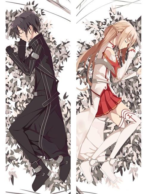 Hot AnimeTouken Ranbu Kirito&Asuna Anime Dakimakura Pillow Cover