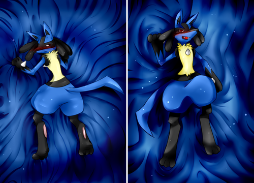 Hot Anime Pokémon Lucario Anime Dakimakura Pillow Cover