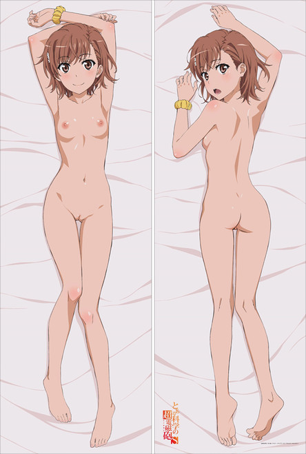 A Certain Scientific Railgun Misaka Mikoto with Double Sides Zipper to make love Anime Dakimakura Pillow Case -1