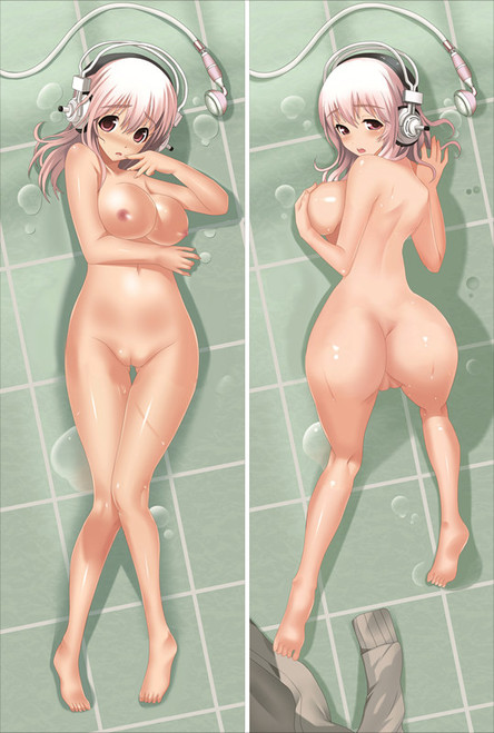 Super Sonico With Double Sides Zipper To Make Love Anime Dakimakura Pillow Case-1