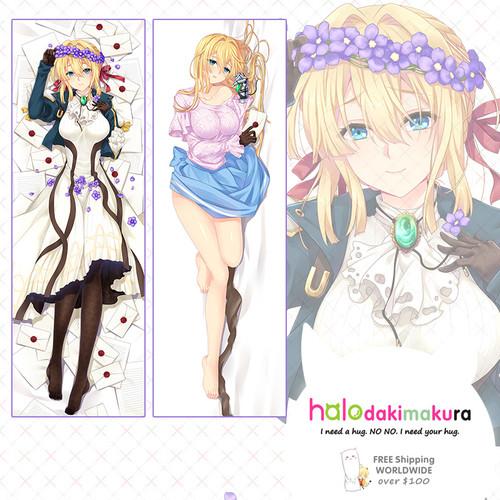 Violet Evergarden Violet Evergarden Anime Dakimakura Pillow Case-1