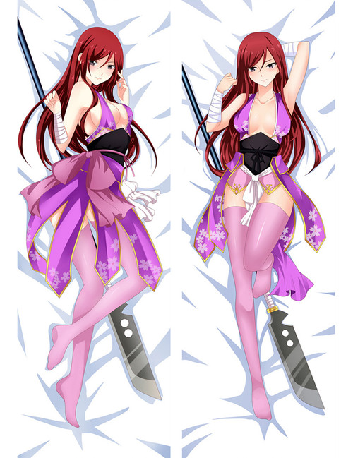 Fairy tail Erza Scarlet Anime Dakimakura Pillow Case