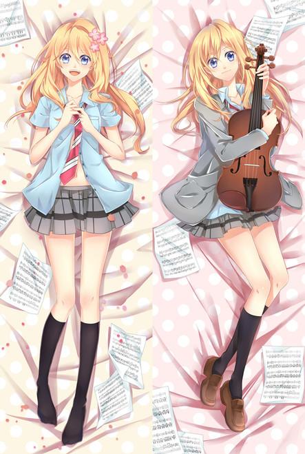 Your Lie in April Kaori Miyazono Anime Dakimakura Pillow Case-1