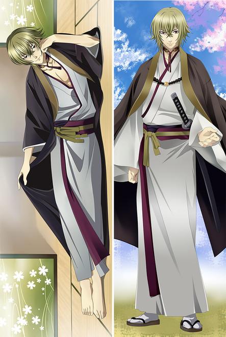 Hakuoki Shinsengumi Kitan Kazama Chikage Anime Dakimakura Pillow Case