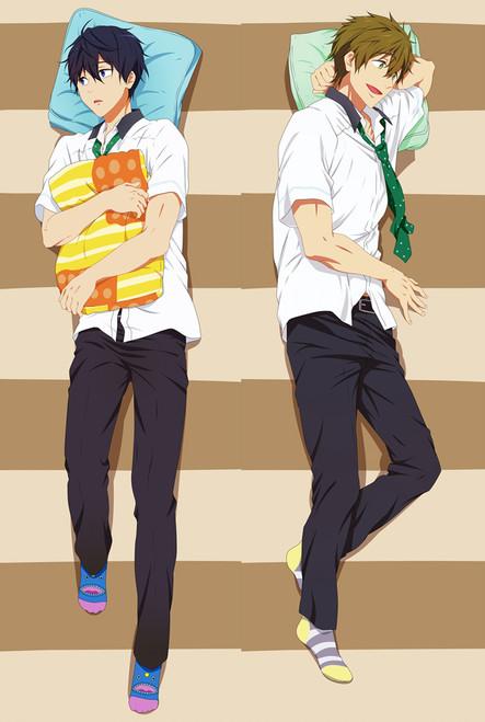 Free! Iwatobi Swim Club Haruka Nanase Makoto Tachibana Anime Dakimakura Pillow Case
