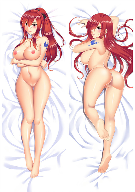 Fairy tail Erza Scarlet with Double Sides Zipper To Make Love Anime Dakimakura Pillow Case Mgf-86071-zip