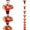 Stanwood Rain Chain - Copper Rain Chain Morning Glory Flower - 8-ft