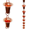 Stanwood Rain Chain - Copper Rain Chain Funnel/Cup Shape 8-ft