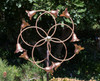 Stanwood Wind Sculpture: Kinetic Copper Dual Spinner - Tumbling Flowers