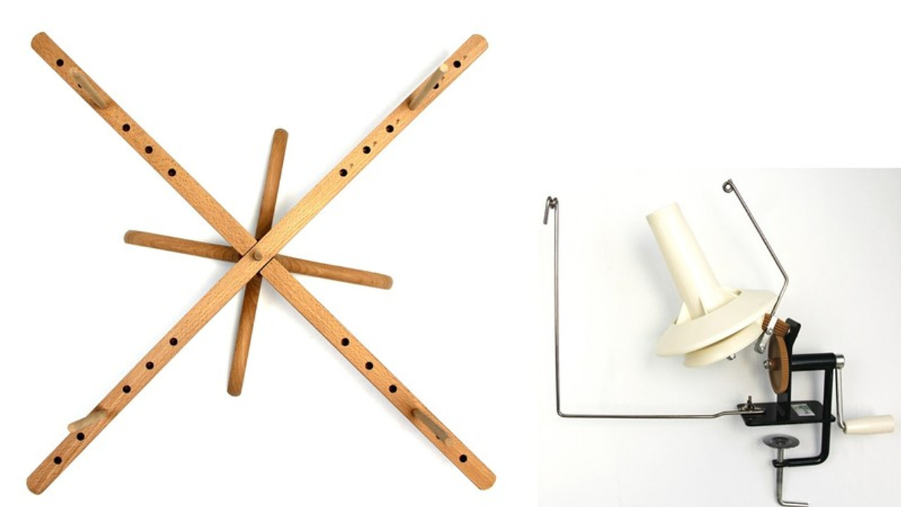 Stanwood Needlecraft - Tabletop Amish Style Yarn Swift / Large Metal Ball  Winder Combination #6