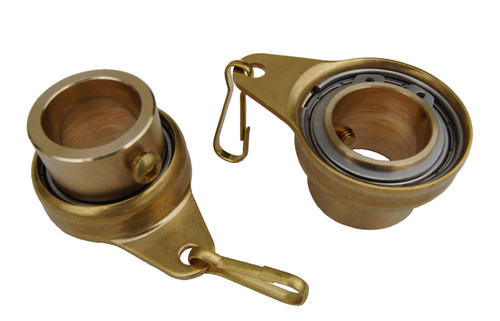 """Stanwood Wind Sculpture Non Tangle Flagpole Swivel/Rotating Ring,  Brass Spinner with Stainless Steel Bearing - 1"""", Pack of 2 - Imported"""