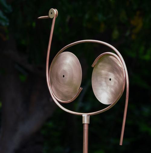 Stanwood Wind Sculpture: Kinetic Copper Great Blue Heron Spinner