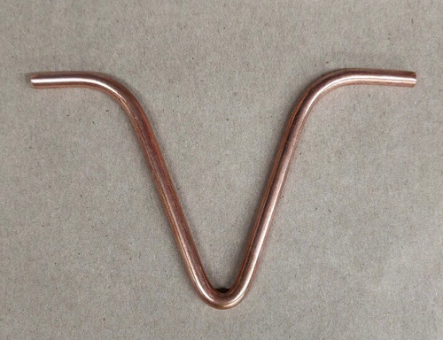 """Stanwood Rain Chain - Replacement Copper """"V"""" Hook for Gutter Installation"""