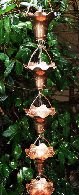 Stanwood Rain Chain: 2-ft Extention Rain Chain Hummingbird and  Flower