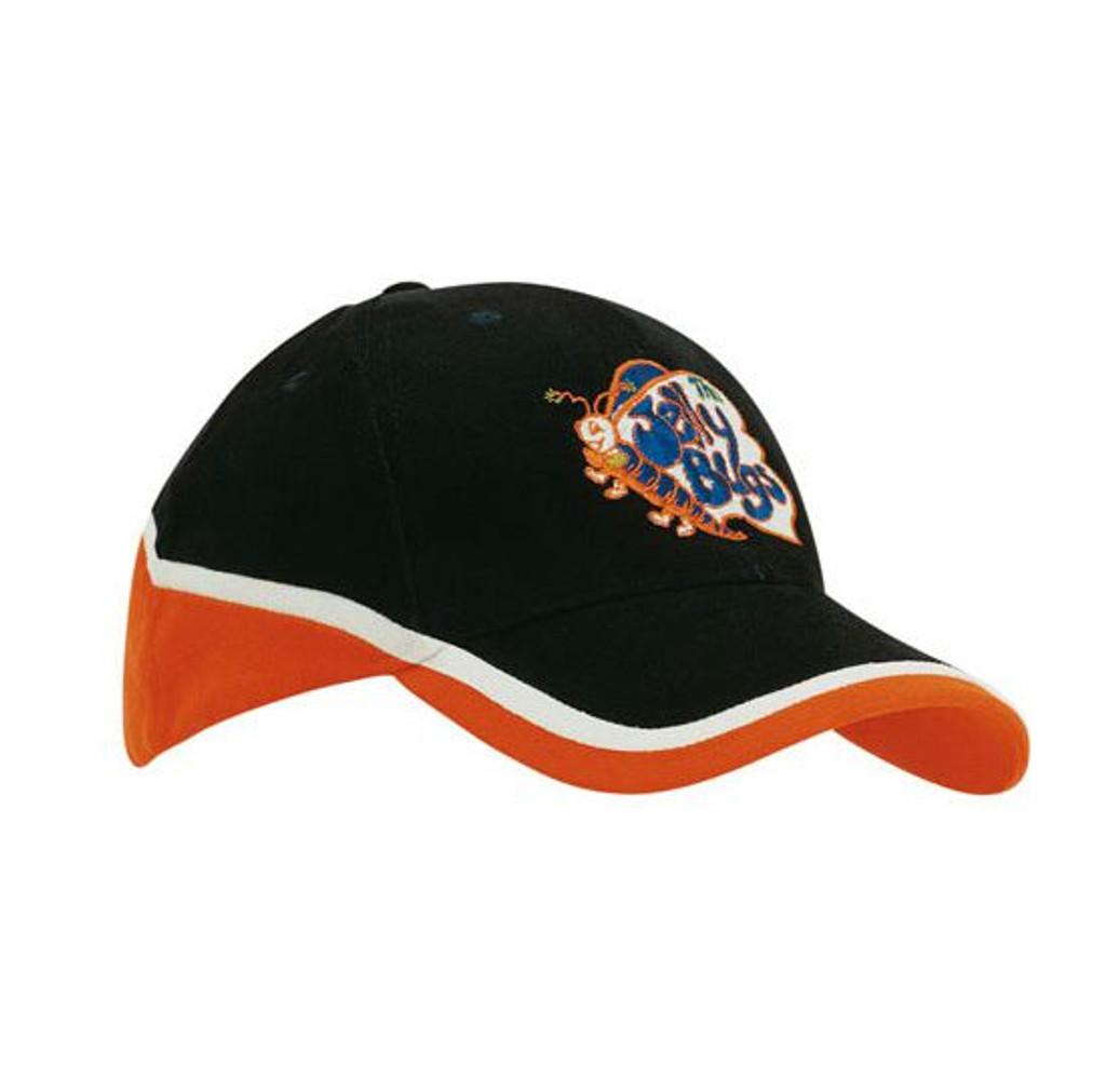 Brushed heavy cotton cap tri-colour