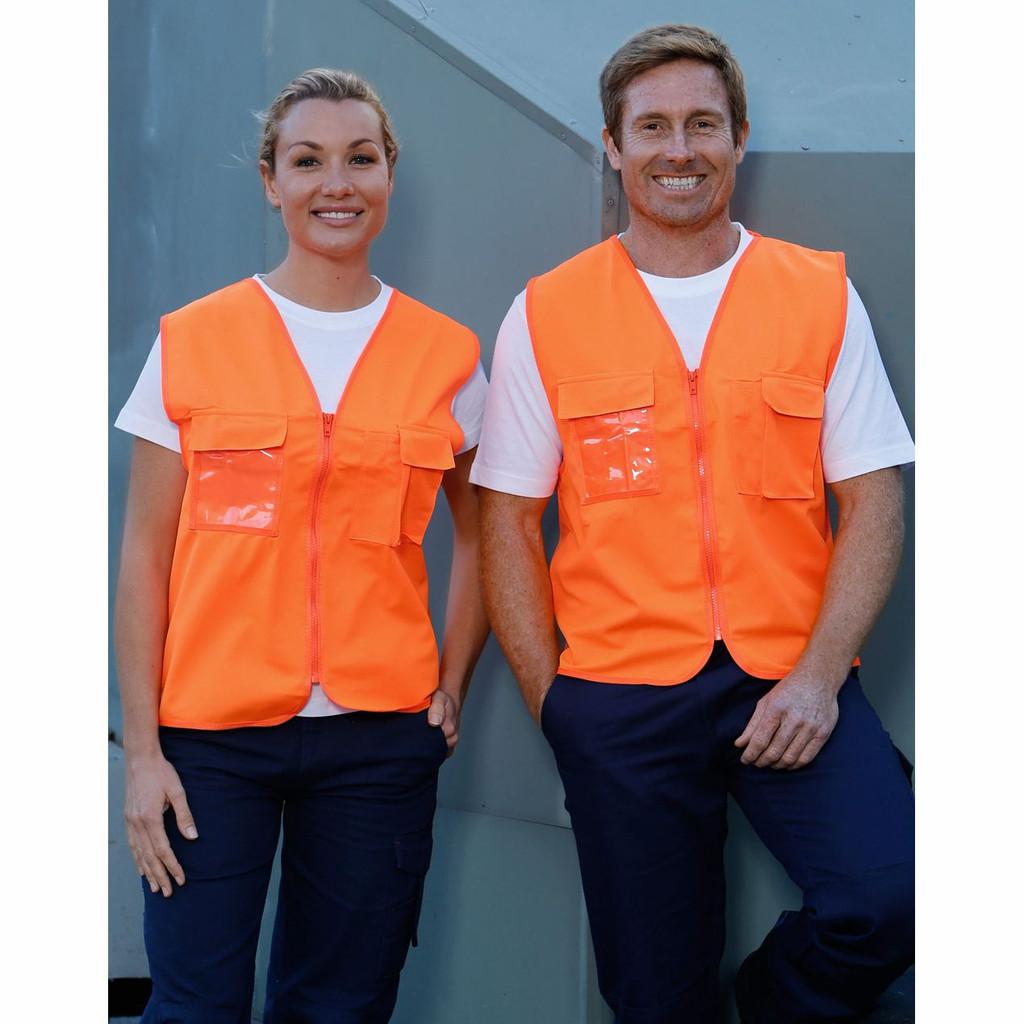 Hi Vis Safety Vest with ID Pocket