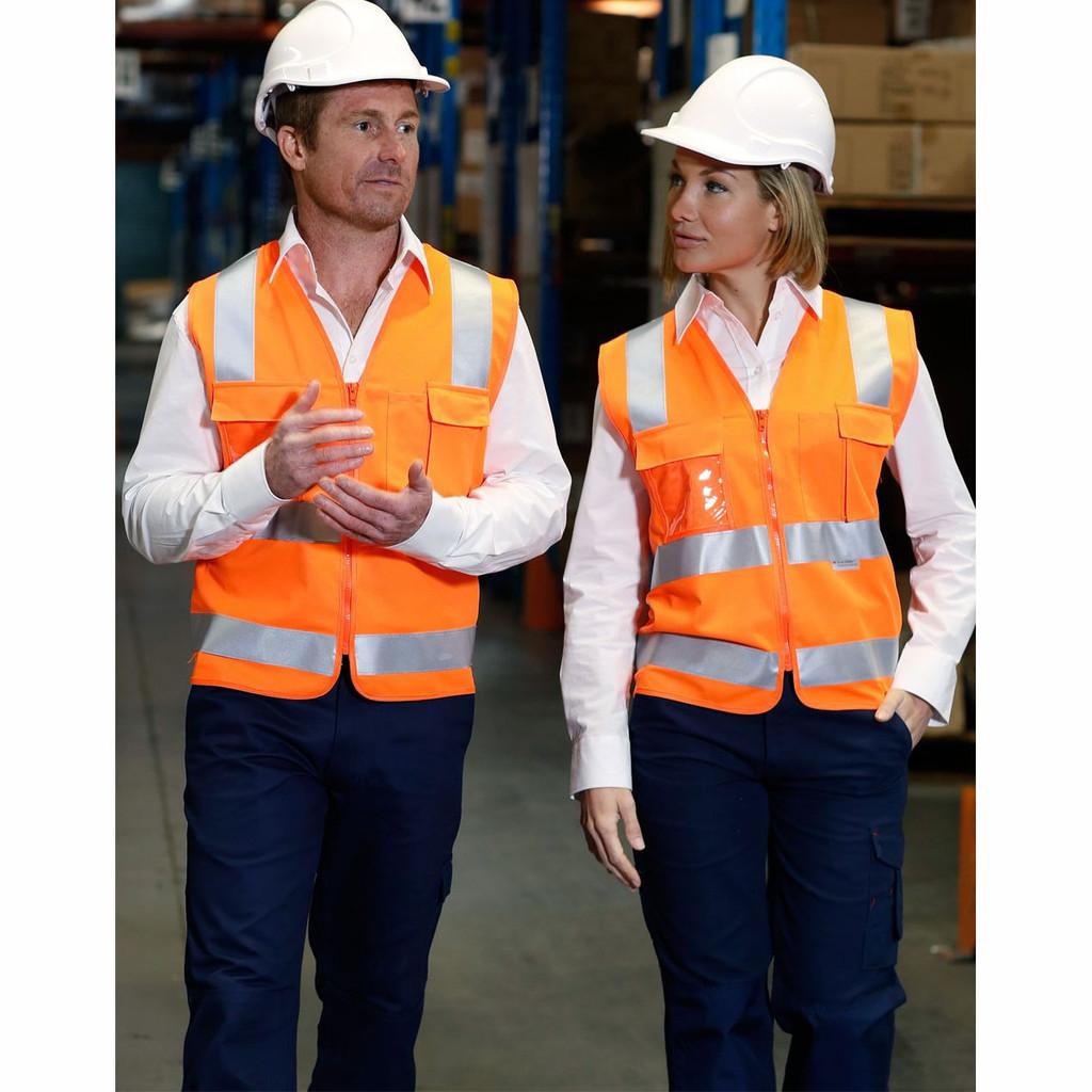 Hi Vis Safety Vest with ID Pocket & Taped