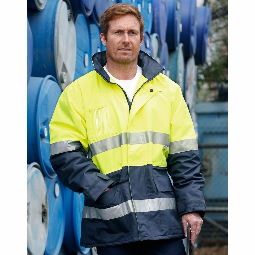 Hi Vis Long Line Jacket Polar with Fleece Lining