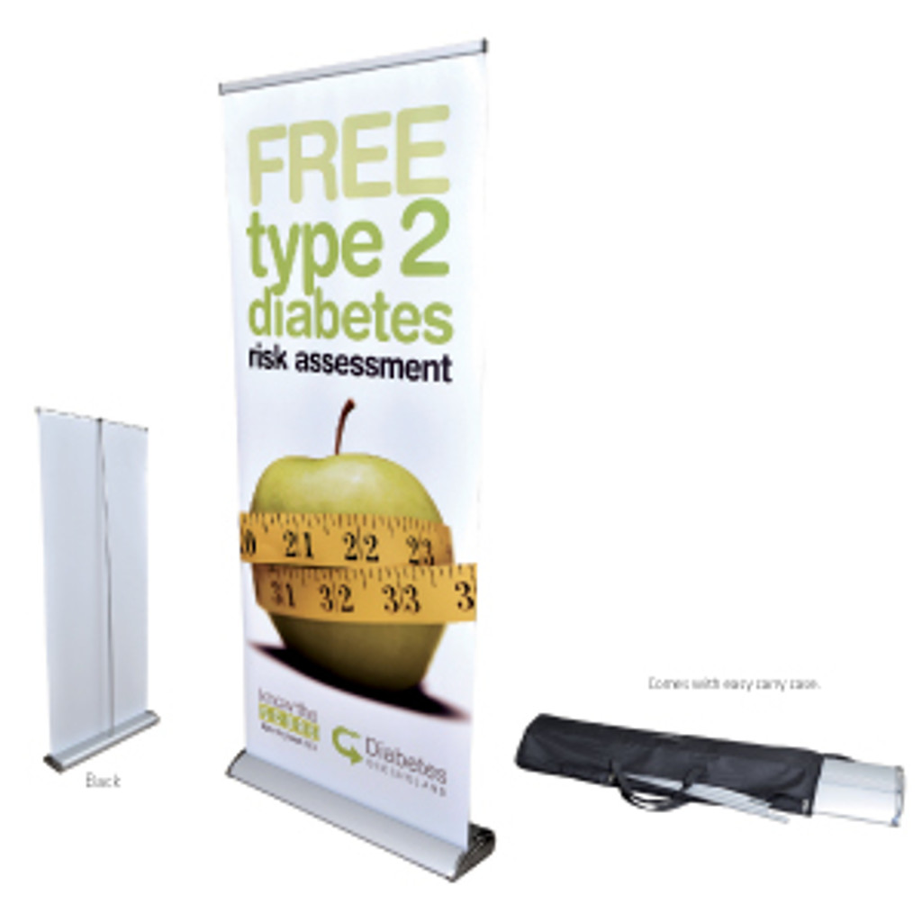 Deluxe 850mm Roll Up Banner
