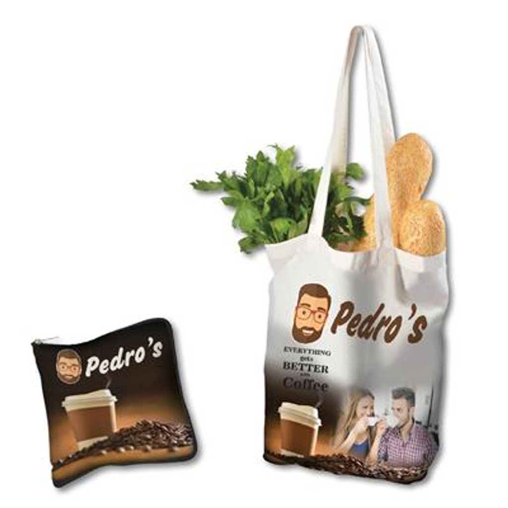 Cotton Folding Shopping Bag with Full Colour