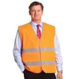 Hi Vis Safety Vest with reflective tape-1