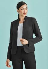 Short Ladies Jacket with Reverse Lapel