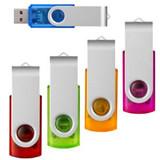 Rotate Transparent Flash Drive