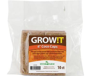 """GROW!T Coco Caps 4"""" 10pk"""