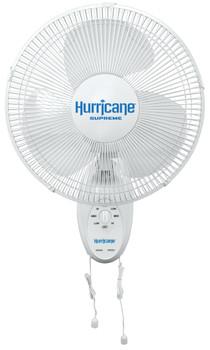 "Hurricane Supreme Oscillating Wall Mount Fan 12"""