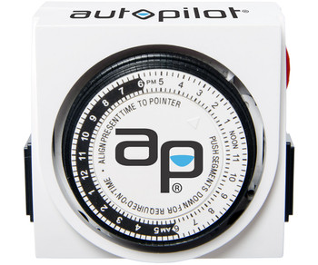 vAutoPilot Analog Grounded Timer, 1725W, 15A, 15 Min ON/OFF, 24HR