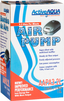 Active Aqua Air Pump, 1 Outlets, 2W, 3.2 L/MIN