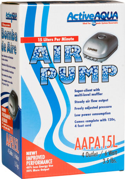 Active Aqua Air Pump, 4 Outlets, 6W, 15 L/MIN