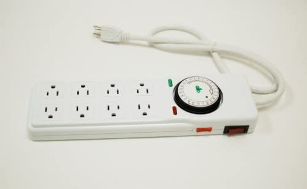 Grow1Power Strip 8 outlet/timer