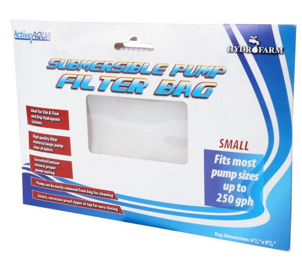 "Submersible Pump Filter Bag, 6.75"" x 9.375"""