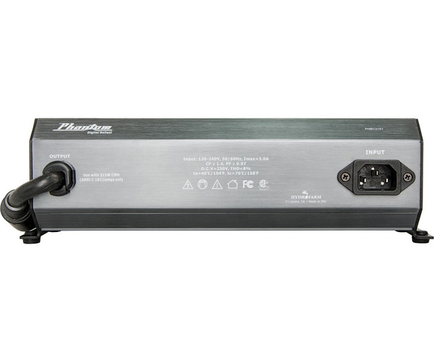 Phantom II Cmh Ceramic Metal Halide Digital Ballast, 315, 120V/240V